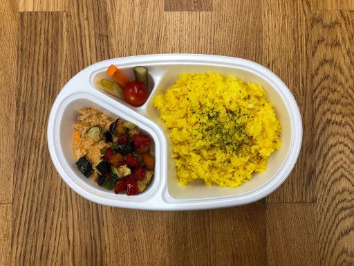 豚ひき肉と夏野菜のレッドカレー